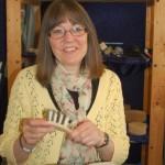 Ann-Christine Magnusson har uppfunnit en tangentborste med gethår.